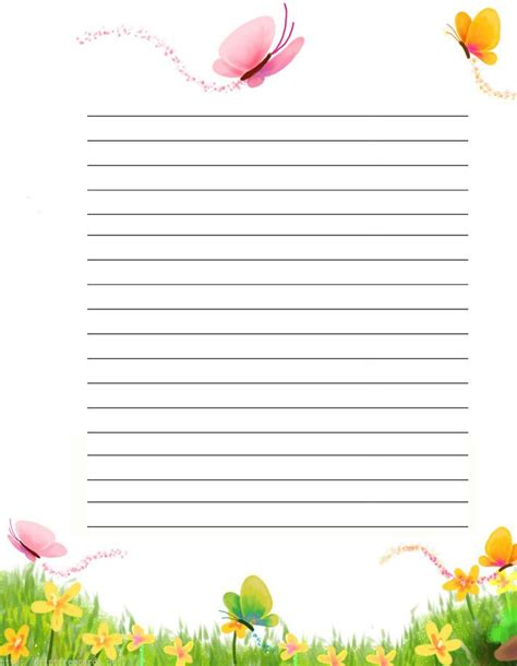 printable insect writing paper pin by ammamazy on printable stationary pinterest