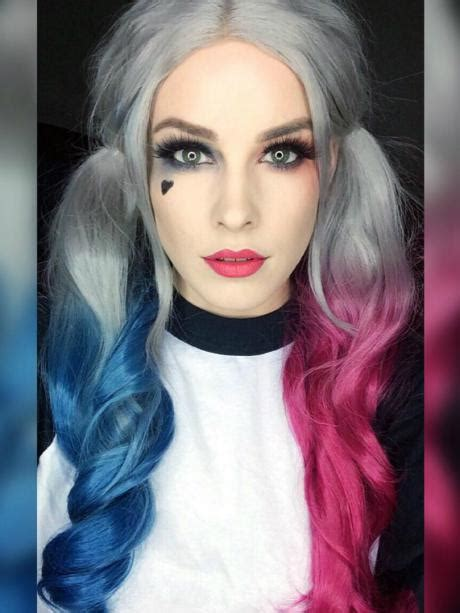 harley quinn hair color come back evahair quot harley quinn quot inspired hair color half