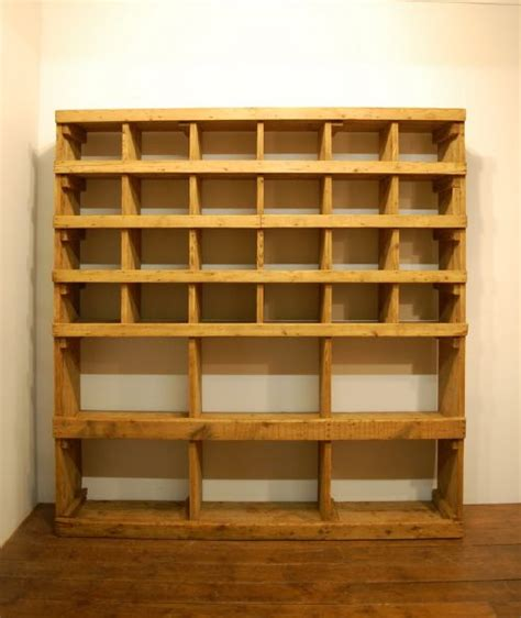 pigeon shelving antique pine industrial mill pigeon shelf 1880