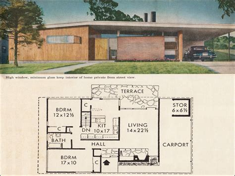 century homes floor plans 4 home plans with the midcentury modern look floor plans