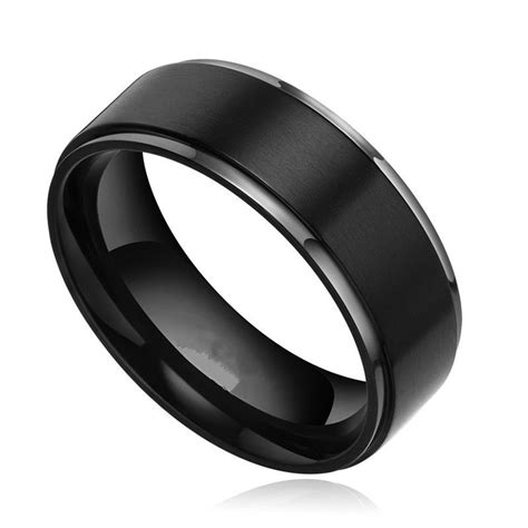 black titanium mens wedding rings black titanium wedding bands for wedding and bridal