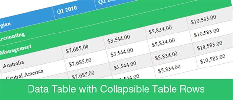 html expand collapse section html expand collapse section data table with collapsible