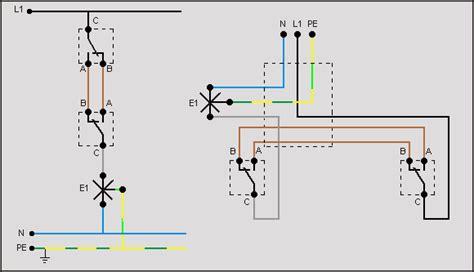 lada comandata da due punti fig 2 4 schema funzionale di un punto luce deviato