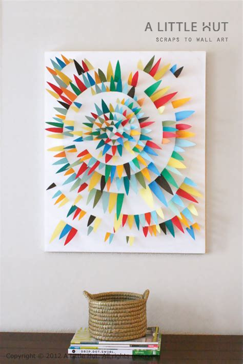 How To Make Paper Artwork - a hut zapata use paper scraps to make