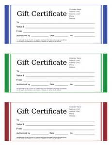 Blank Gift Certificate Templates by Blank Gift Certificate Template Www Imgkid The