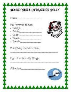 christmas exchange gifts for adults secret santa questionnaire secret santa and gift exchange on