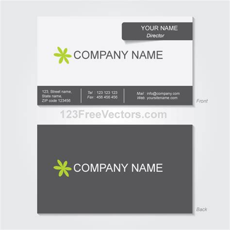 business card ai template business card template vector free vector