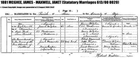 Lanarkshire Scotland Birth Records Janet Maxwell Mcghee 1852 1915 Wikitree Free Family Tree