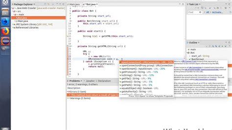 tutorial web crawler java let s make a web crawler in java currently at part 2