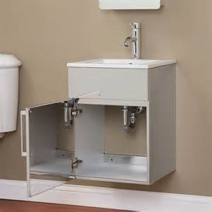 Stainless Steel Bathroom Vanity by 17 Quot Crosstown Stainless Steel Wall Hung Vanity Brushed