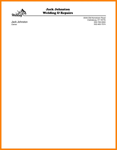 uk company letterhead template word copy brief templates picture
