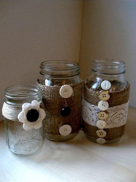 mason canning jar decoration shabby chic wedding country wedding h