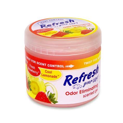 Cool Scents Strawberry refresh your car gel car air freshener 4 5 oz strawberry lemon autogeek my shop