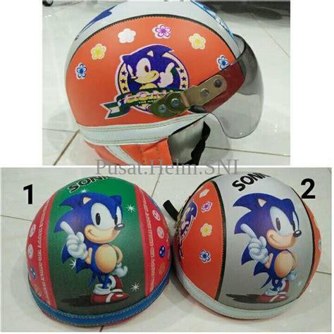 Helm Bogo Retro Anak 2 6 Th Motif Boboiboy Kaca jual helm anak lucu retro karakter sonic retro sincan b l7iq pusat helm sni