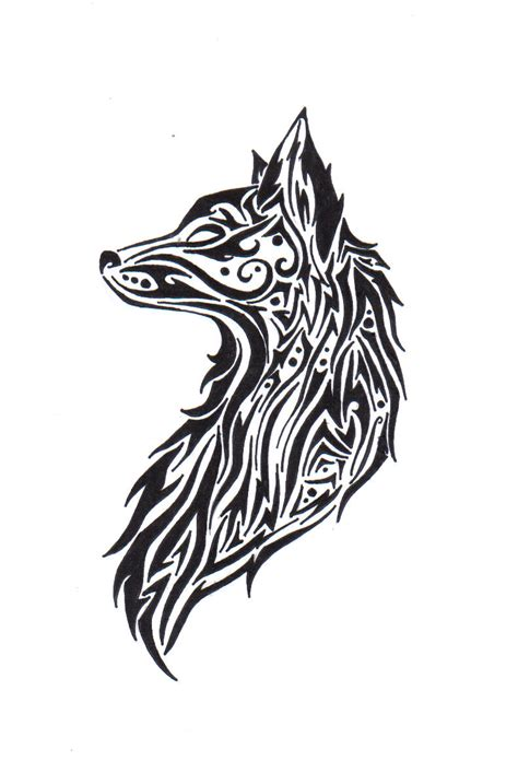 different tribal tattoos cool tribal wolf drawings www pixshark images