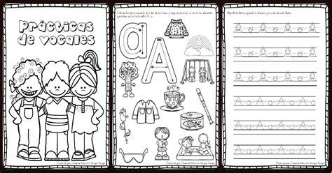 imagenes educativas cuadernillos librito para practicar y repasar las vocales imagenes