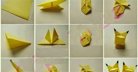 How To Make Origami Pikachu - easy origami pikachu driverlayer search engine