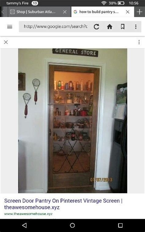 the sign pantry door and light in pantry want