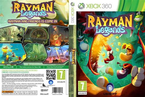 Rayman Legends Xbox 360 Cover | rayman legends xbox 360 game covers rayman legends