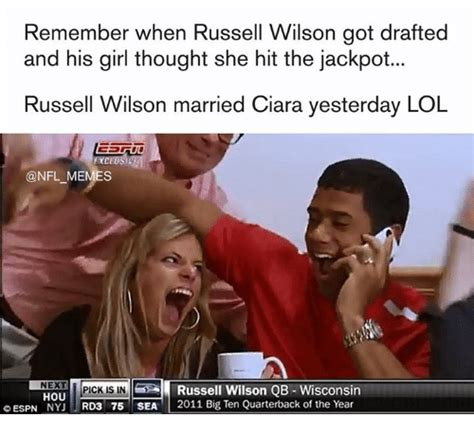 Russell Wilson Wife Meme - funny russell wilson memes of 2016 on sizzle cam newton