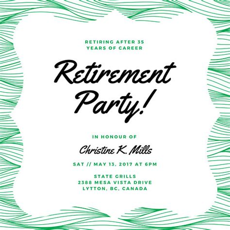 retirement flyer template retirement invitation gangcraft net