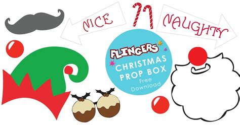 printable christmas party photo booth props flingers party shop blog free christmas party photobooth