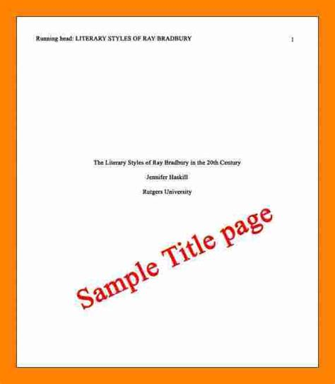 5 apa exle title page resume sections