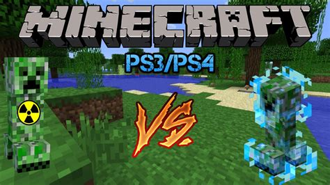 mods in minecraft for ps3 minecraft ps3 ps4 mods charged creeper vs nuclear