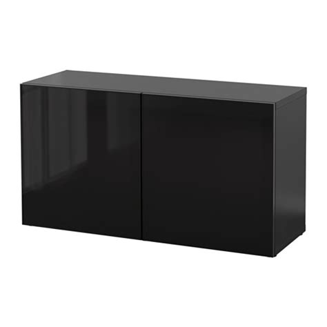 ikea besta glass best 197 shelf unit with glass doors black brown glassvik