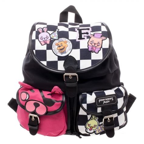 fnaf backpack five nights at freddy s fnaf checkered print w patches