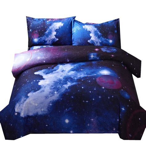 galaxy duvet cover set single double twinqueen pcs