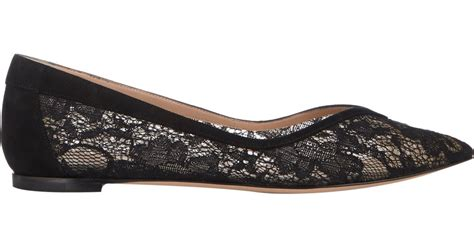 black lace flats shoes gianvito s lace ballet flats in black lyst