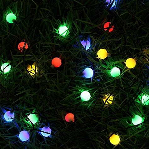 outdoor string flashing led lights christmas bluefire led string lights with 31ft 50 leds waterproof color changing globe