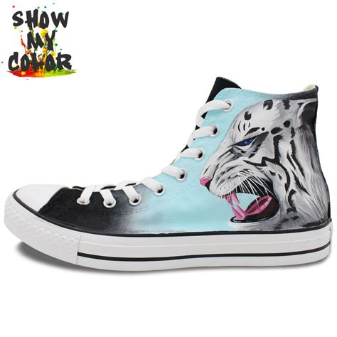 all sneakers for high top converse all sneakers tiger painted fashion