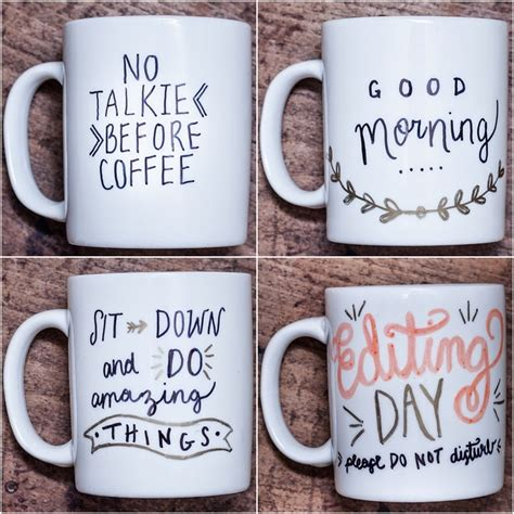 the simplest diy coffee mugs diy coffee mugs for the perfect early morning sip