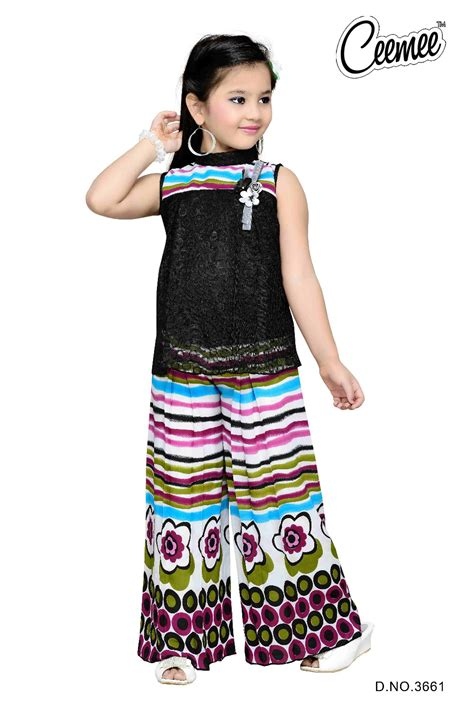 girls dess plazo dess photo girls casual dress beautiful plazo suit buy little