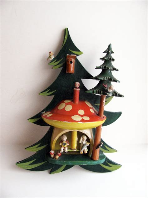 vintage steinbach germany christmas tree toadstool wooden