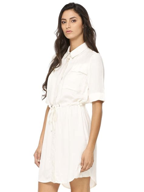Sleeve Tie Waist Shirt buy koovs tie waist sleeve shirt dress for