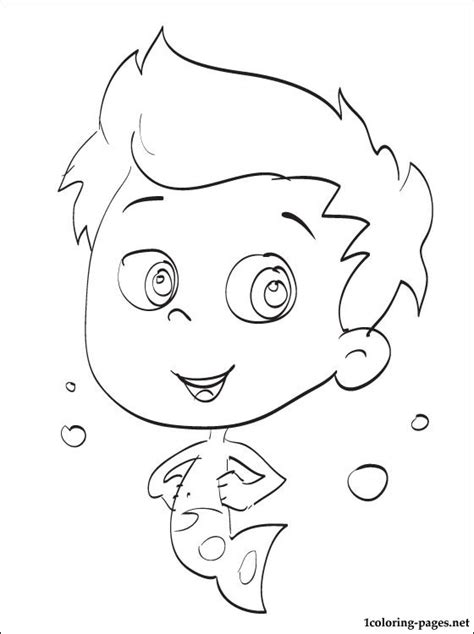 Bubble Guppies Christmas Coloring Pages Gil Guppies Coloring