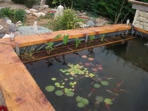 bassin de jardin hors sol en bois bassin de jardin