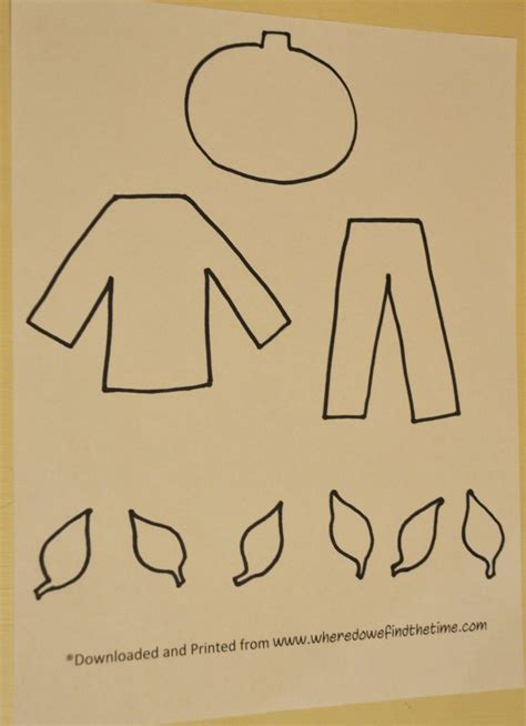 scarecrow template there was an who swallowed some leaves where