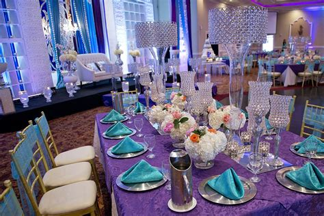 purple and turquoise wedding reception turquoise and purple wedding centerpieces www imgkid