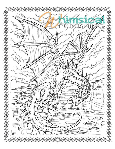 Hard Dragon Coloring Pages For Adults | free coloring pages of very difficult adult