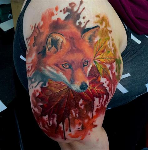 watercolor tattoo essex the 25 best ideas about watercolor fox tattoos on