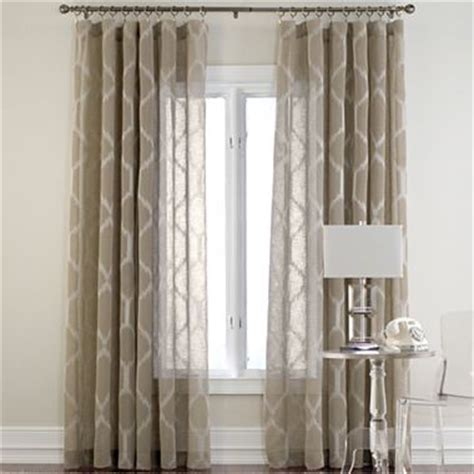 jc penny drapes kya rod pocket sheer panel jcpenney curtains pinterest
