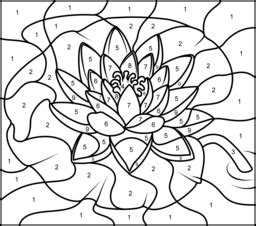 printable color by number flowers flowers coloring online