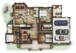 Floor Plan Rendering by Section Peter Strong Interior Design