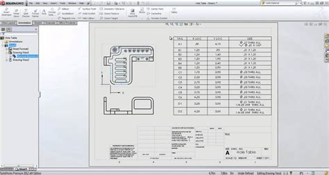 solidworks tutorial holes solidworks tutorial hole tables by solidwize youtube