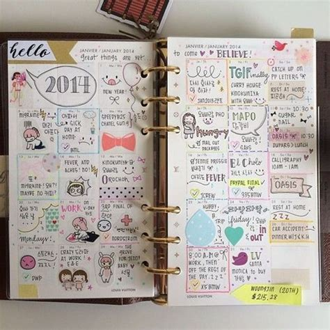 doodle diary ideas monthly calendars filofax and calendar on