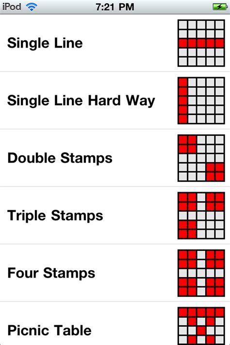 pattern bingo games bingo cards game patterns casa larrate